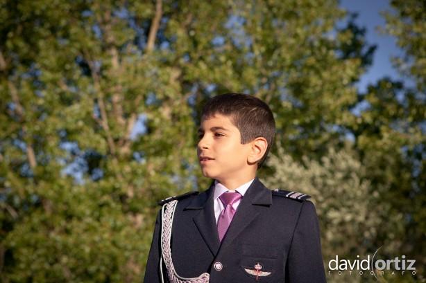 Fotografia y reportaje de comunión de exterior, realizado por David Ortiz Fotógrafo en Salamanca